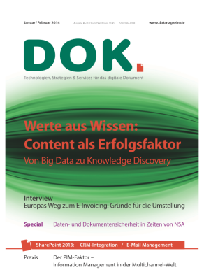 Cover DoK magazin Nummer 6 in 2013